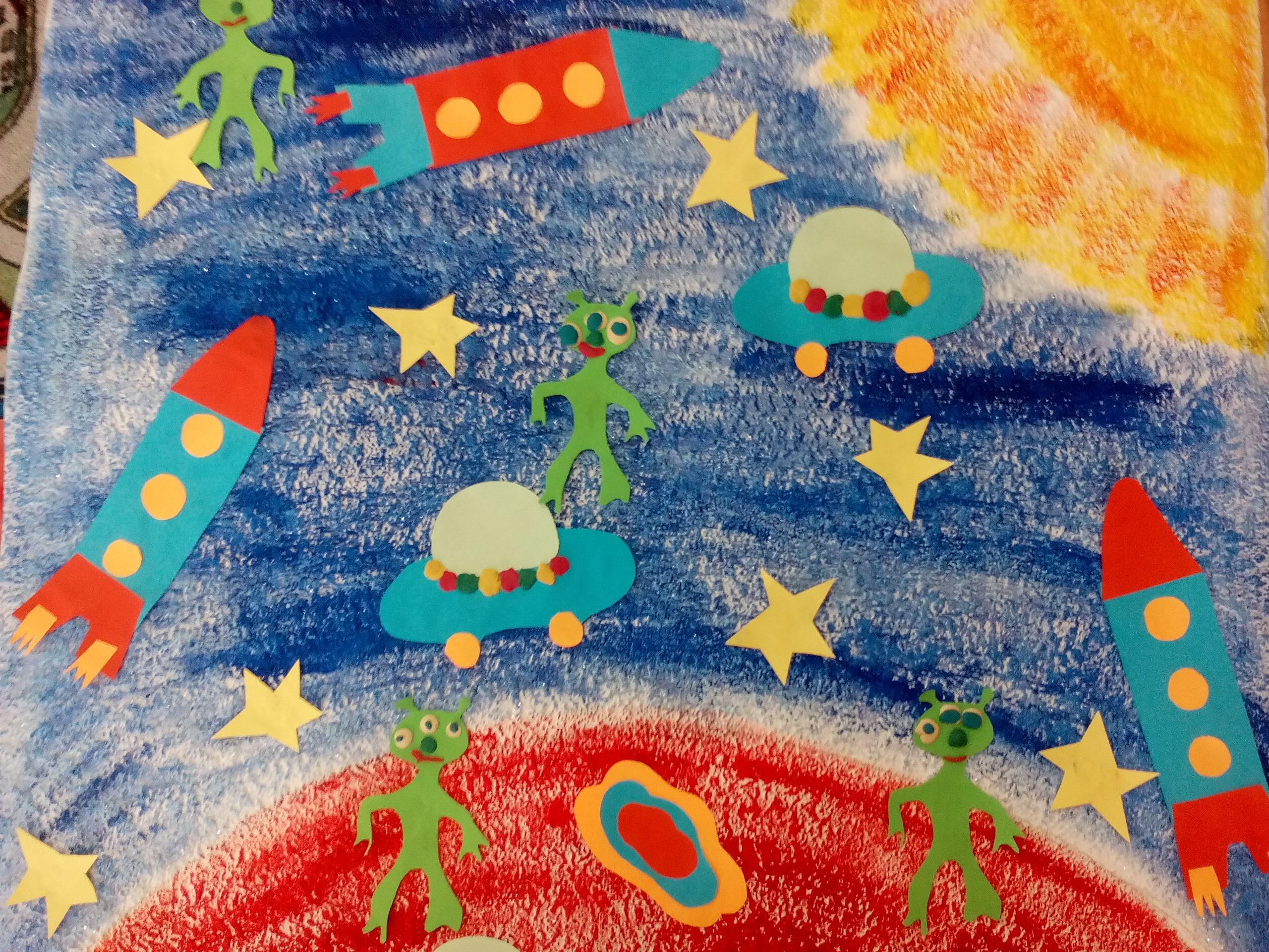 Поделки детей о космосе